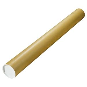 Tube d envoi postal rond Tidypac 750x50 mm en carton rigide de sécurité