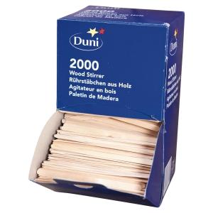 Boite distributrice de 2000 agitateurs duni en bois