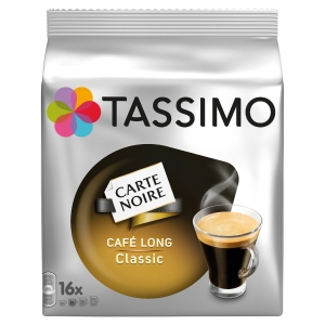 PAQUET DE 16 TDISCS DE CAFE TASSIMO CARTE NOIRE CAFE LONG CLASSIC
