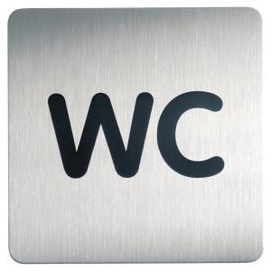 Plaque de signalisation toilettes Durable métal carre 150 x 150 mm 4957