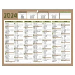 CALENDRIER RECYCLE NATURA MINI 7MOIS 21 X 26,5