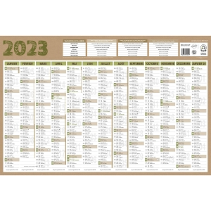 CALENDRIER RECYCLE NATURA 13MOIS 46X65