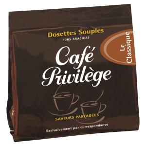 Etui de 18 dosettes souples de café privilege classique
