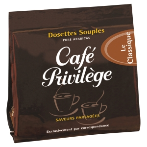 ETUI DE 18 DOSETTES SOUPLES DE CAFE PRIVILEGE CLASSIQUE