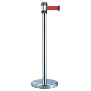 Poteau de guidage métal inox Viso avec sangle 2 m rouge