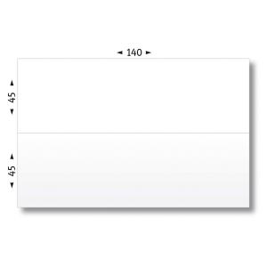 BOITE DE 1000 ETIQUETTES D AFFRANCHISSEMENT DOUBLE AGIPA 140X45MM DOUBLE