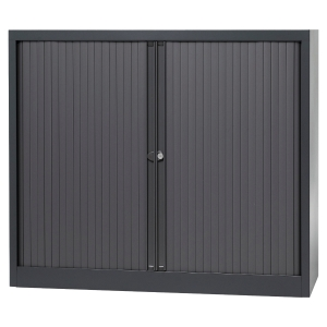 ARMOIRE METALLIQUE A RIDEAUX DEMONTEES BISLEY H103 ANTHRACITE