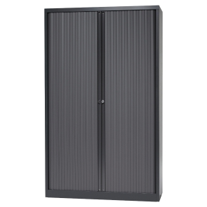 ARMOIRE METALLIQUE A RIDEAUX DEMONTEES BISLEY H198 ANTHRACITE