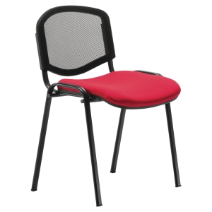 CHAISE EMPILABLE SHELL POLYPROPYLENE RESILLE ROUGE