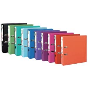 Classeur à levier Exacompta Prem Touch - dos 8 cm - coloris tendance - lot de 10