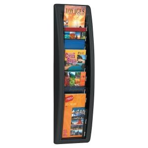présentoir mural quick fit 5 cases 1/3 A4 coloris noir