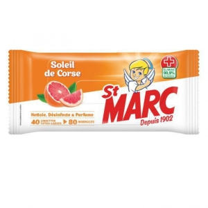 Lingette antibacterienne St Marc - soleil de Corse - paquet de 40