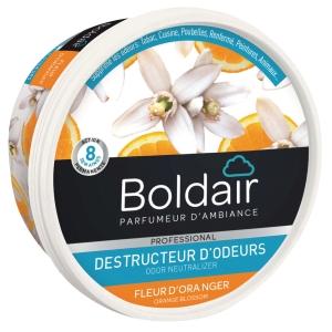 Gel destructeur d odeurs boldair senteur fleur d oranger 300g biodegradable