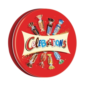 BOITE METAL DE CHOCOLATS CELEBRATIONS 450G