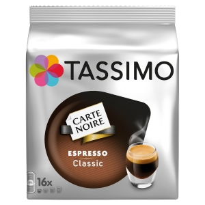 PAQUET DE 16 TDISCS DE CAFE TASSIMO CARTE NOIRE EXPRESSO CLASSIC