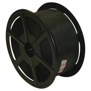 Feuillard manuel avec joues plastique - 15 mm x 1400 m - noir - 2 bobines