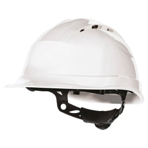 CASQUE DE CHANTIER VENTILÉ DELTA PLUS QUARTZ UP 4 BLANC