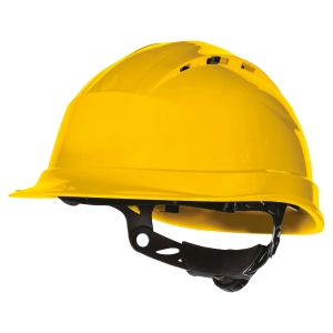 CASQUE DE CHANTIER VENTILÉ DELTA PLUS QUARTZ UP 4 JAUNE