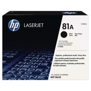 Cartouche laser HP n°81a noire cf281a