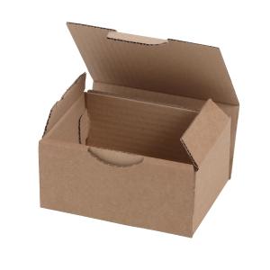 Boîte postale kraft brun - 120 x 100 x 80 mm - lot de 50