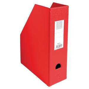 Porte-revues PVC Exacompta dos de 10 cm rouge A4 90165e
