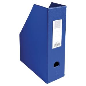Porte-revues pp Exacompta dos de 10 cm bleu A4  90162e