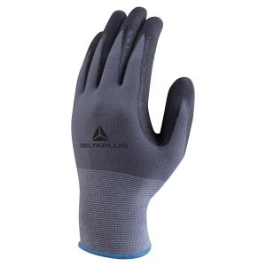 Paire de gants Deltaplus VE-727 polyamide enduit nitrile/PU taille gris 10