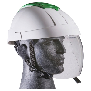 CASQUE DE PROTECTION ELECTRICIEN E-MAN AVEC ECRAN FACIAL RETRACTABLE BLANC