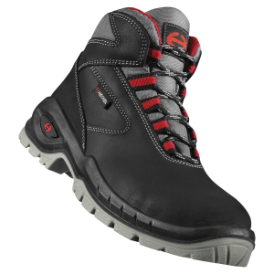 Paire de chaussures Heckel Suxxeed S3 montantes noires/rouges P 43