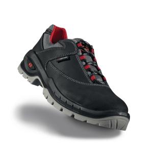 Paire de chaussures Heckel Suxxeed S3 basses noires/rouges P 42