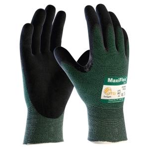 Paire de gants ATG Maxiflex Cut 34-8743 anti-coupures gris/noirs taille 9