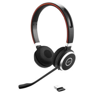 Casque binaural Jabra Evolve 65 bluetooth optimisé pour Microsoft