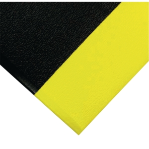 Tapis antifatigue Coba Orthomat Safety 0.9 x 1.5 m noir et jaune