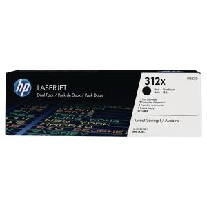Cartouche de toner HP 312X - CF380XD - noire - pack de 2