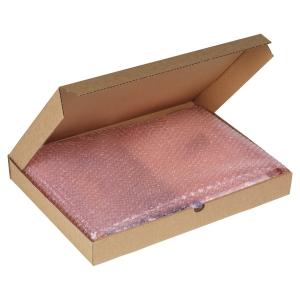 Lot de 50 boites postales extra plates 215x155x50 mm brunes