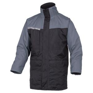 Parka 2 en 1 Deltaplus Alaska 2 polyester pongee enduit PVC noir/grise taille L