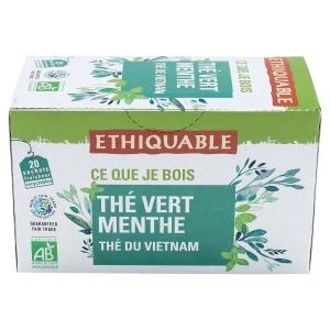 Paquet de 20 sachets de the vert menthe bio ethiquable