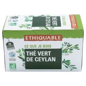 Thé vert de Ceylan Ethiquable bio - boîte 20 sachets