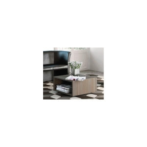 TABLE BASSE CARREE MOBILE BURONOMIC 60X60CM FINITION CEDRE