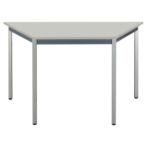 TABLE DE CONFERENCE POLYVALENTE TRAPEZE BURONOMIC 120X60 GRIS CLAIR