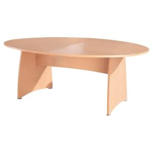 Table tonneau Buronomic - pieds panneaux - L 200 cm - hêtre