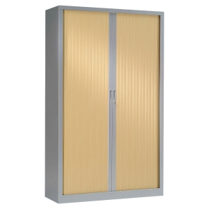ARMOIRE PIERRE HENRY 2 PORTES 198X120 ALU/CHENE CL