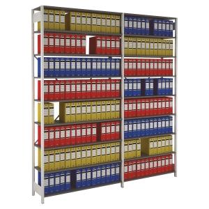 Rayonnage Provost Proclass - 8 étagères - 120 x 220 x 36,2 cm - élément départ