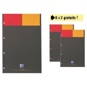 PACK AVANTAGE LOT DE 8 BLOCS OXFORD INTERN A4+ LIGNE JAUNE 160P + 2 GRATUITS