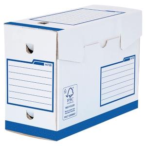 Boîte d archives Bankers Box A4+ - manuel - dos 20 cm - bleue - par 20