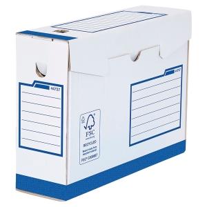 Boîte d archives Bankers Box A4+ - manuel - dos 8 cm - bleue - par 20
