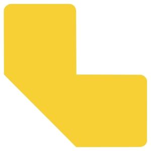 Sachet de 10 symboles de  marquage au sol adhésif  L  jaune