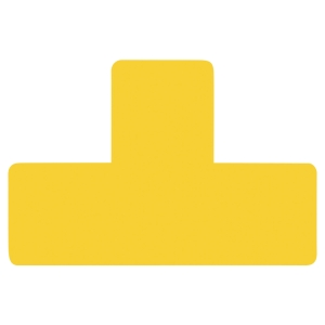Sachet de 10 symboles de  marquage au sol adhésif  T  jaune