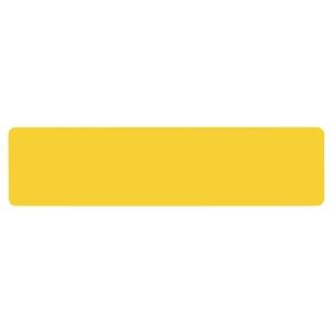 Sachet de 10 symboles de  marquage au sol adhésif  trait  jaune