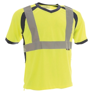 TEE SHIRT HAUTE VISIBILITE TO4 JAUNE FLUO TAILLE L